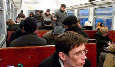 Pociąg podmiejski relacji Moskwa-Pietuszki, którym jechała dziennikarka DZIENNIKA