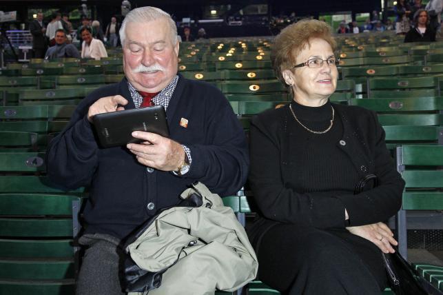 Lech i Danuta Wałęsowie na festiwalu w Sopocie