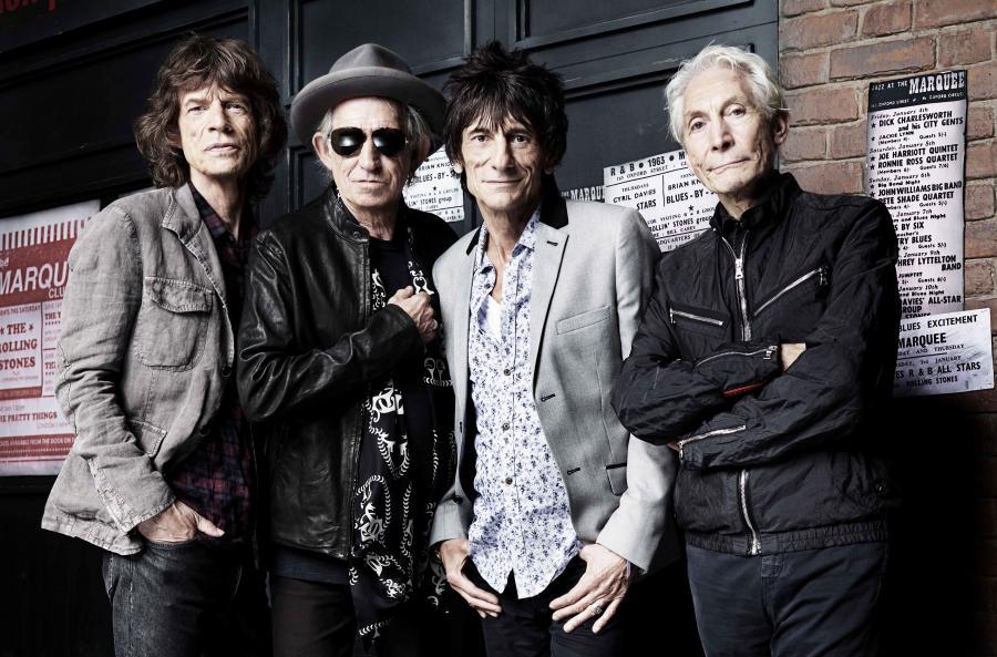 The Rolling Stones przed The Marquee Club w Londynie