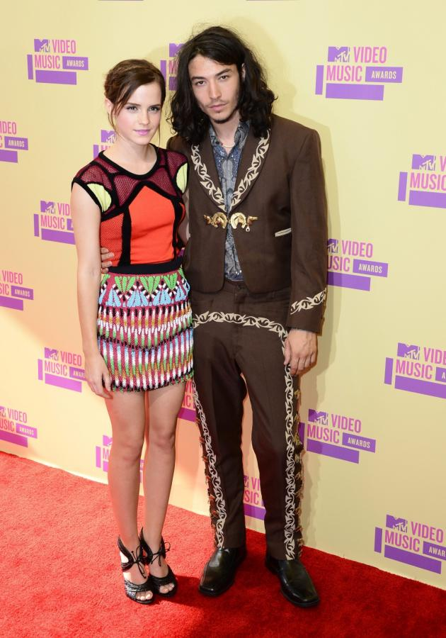Emma Watson i Ezra Miller na MTV Video Music Awards 2012