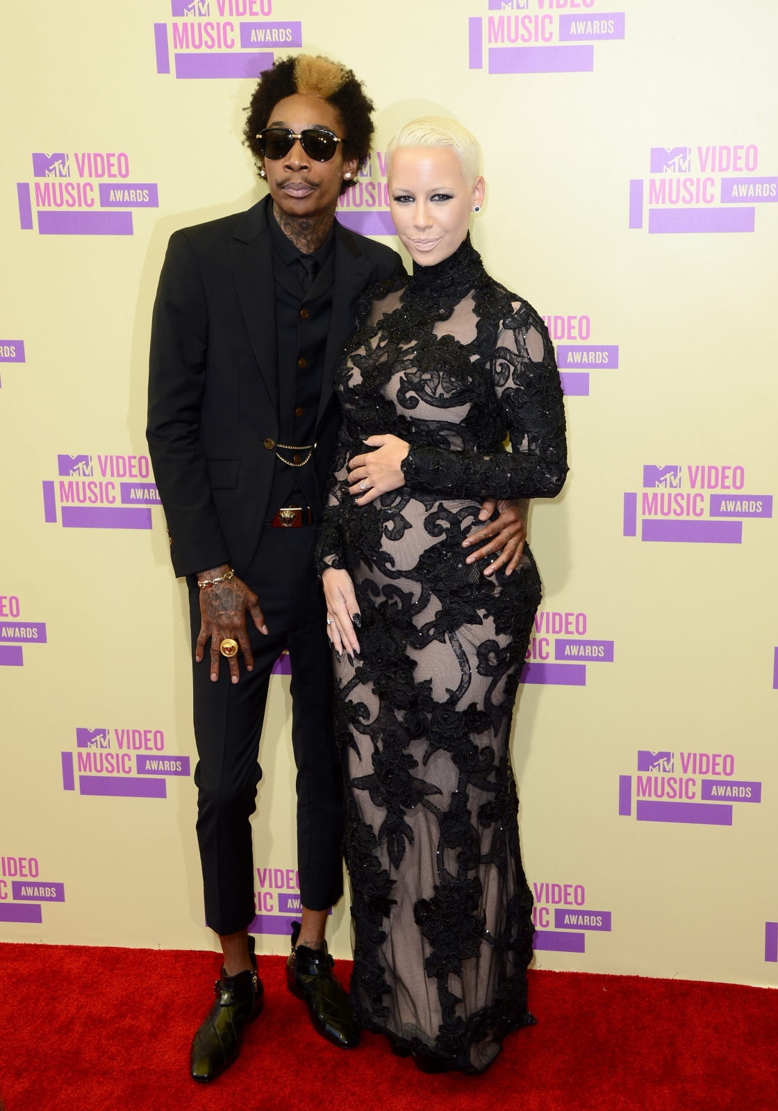 Wiz Khalifa i ciężarna Amber Rose na MTV Video Music Awards 2012