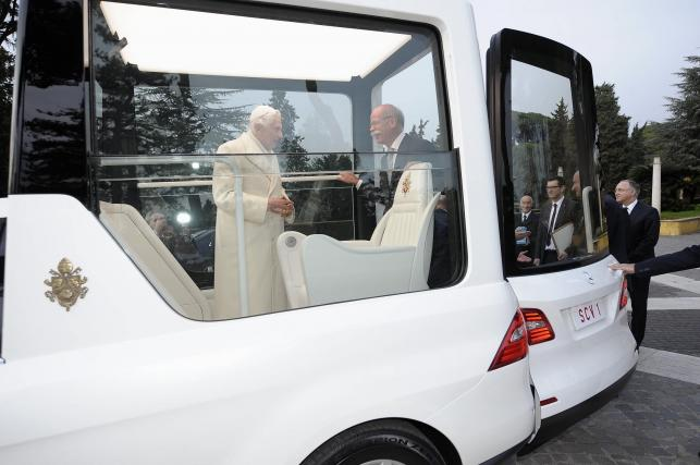 Benedykt XVI i Dieter Zetsche, szef koncernu Daimler AG