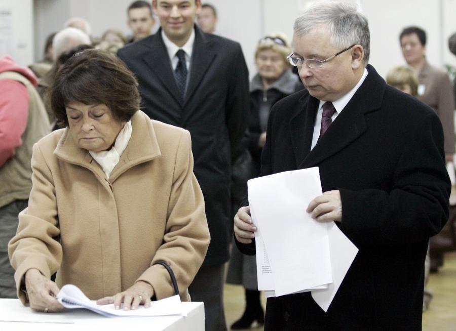 Jadwiga Kaczyńska z synem Jarosławem