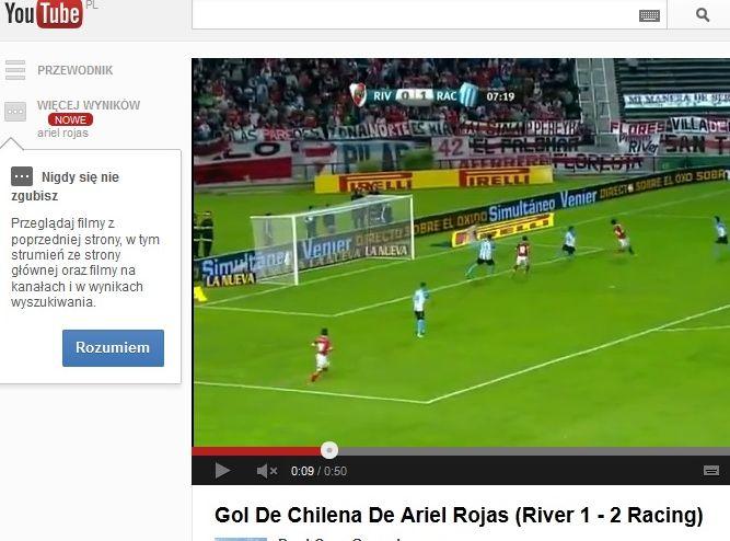 Ariel Rojas strzela gola \