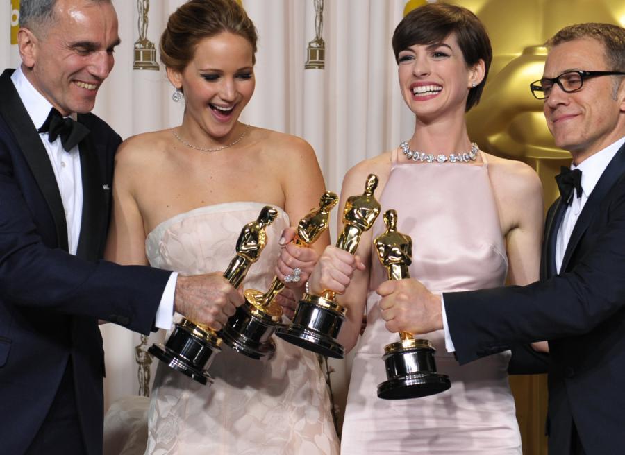 Christoph Waltz i zdobywcy tegorocznych Oscarów