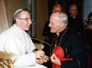Papież Jan Paweł I i jego następca, Karol Wojtyła