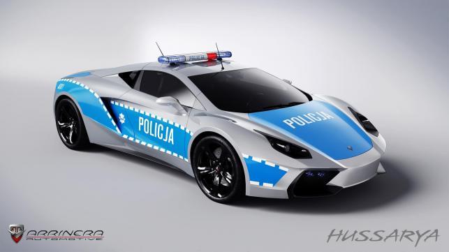 Arrinera hussarya w barwach polskiej policji