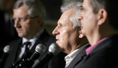Marek Siwiec, Aleksander Kwaśniewski i Janusz Palikot