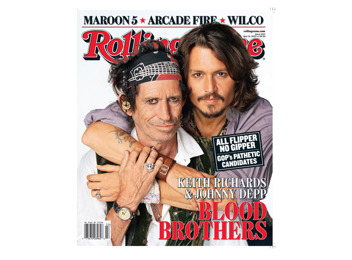 Keith Richards i Johnny Depp na okładce magazynu \