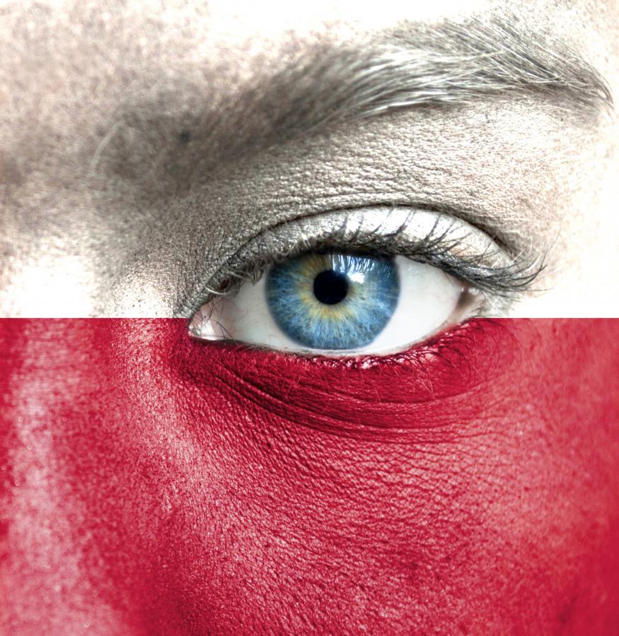 oko Polska flaga twarz