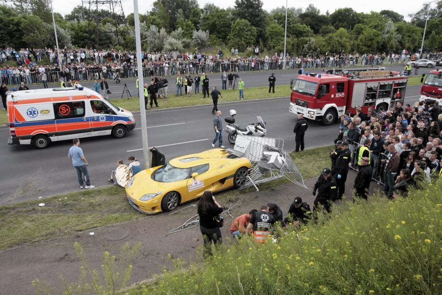 Miejsce wypadku w Poznaniu