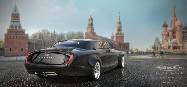 Projekt nowej limuzyny przeznaczonej dla prezydenta Rosji