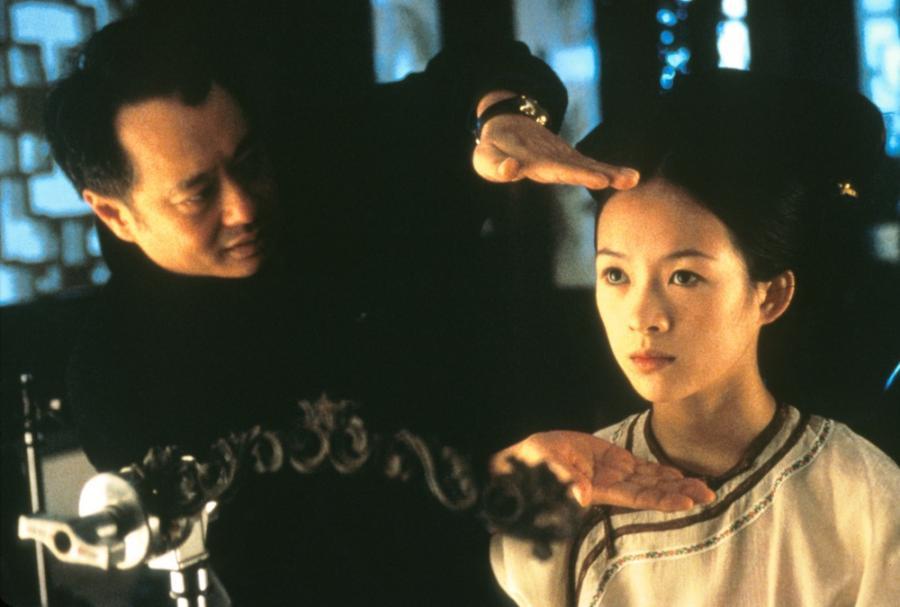 Ang Lee i Ziyi Zhang na planie \