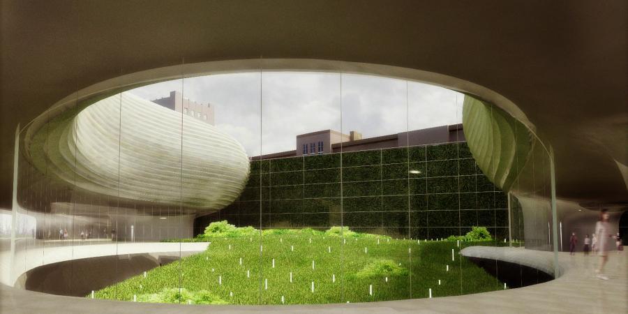 Projekt holu z ogrodem