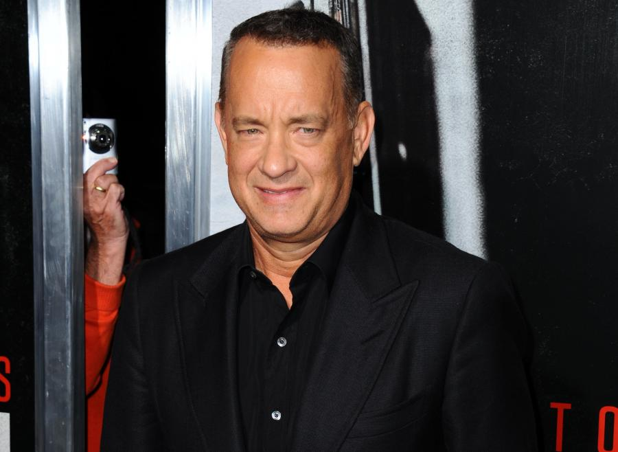 Tom Hanks na premierze filmu \