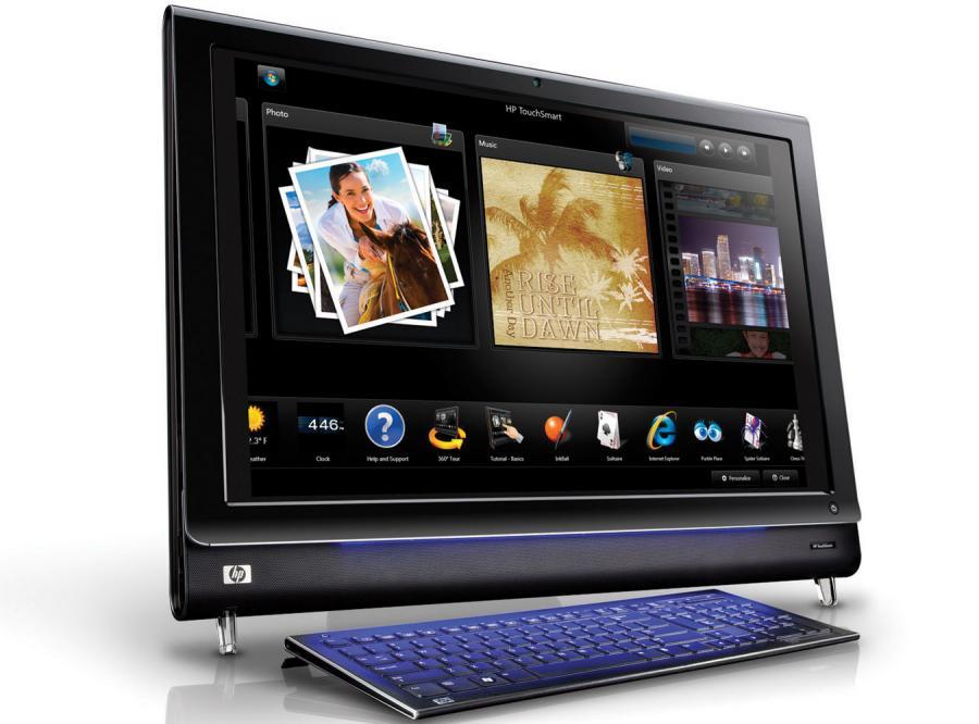 25-calowy komputer z dotykowym ekranem