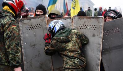 Protesty w Kijowie na Ukrainie