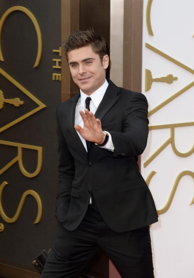 Zac Efron na gali Oscarów 2014