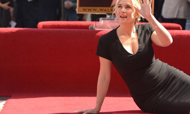 Kate Winslet wreszcie się doczekała... gwiazdy na Hollywoodzkiej Alei Sław [ZDJĘCIA]