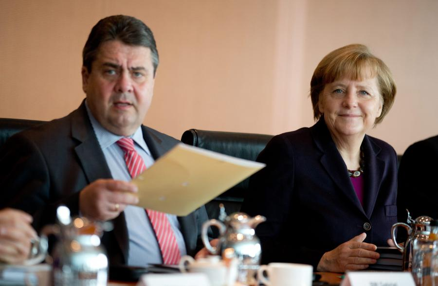 Sigmar Gabriel i Angela Merkel