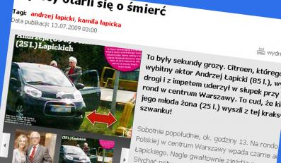 Łapicki skosił słupek w stolicy