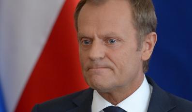 """Premier RP Donald Tusk podczas konferencji prasowej nt. nagrań rozmów polityków upublicznionych przez tygodnik """"Wprost"""""""