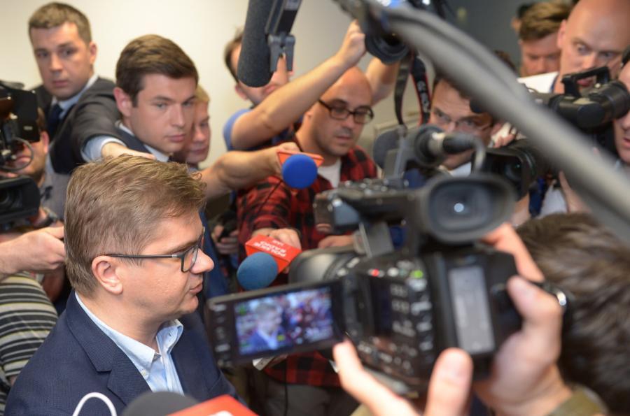 Sylwester Latkowski w redakcji tygodnika \