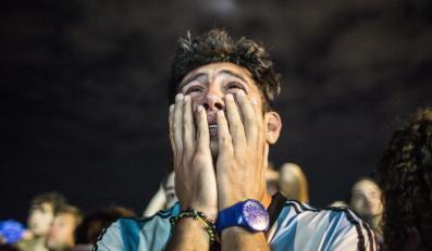 Argentyński kibic po przegranej w finale