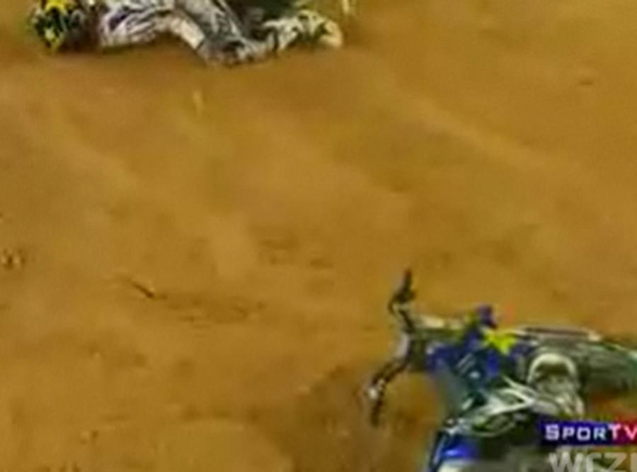 Zobacz straszny wypadek gwiazdy motocrossu