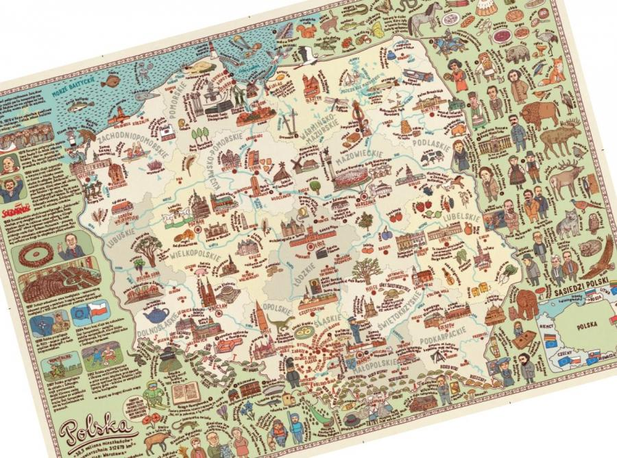 Historyczna mapa Polski według Tuska