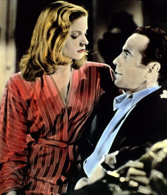 "Humphrey Bogart i Lauren Bacall w filmie ""Mieć i nie mieć"""