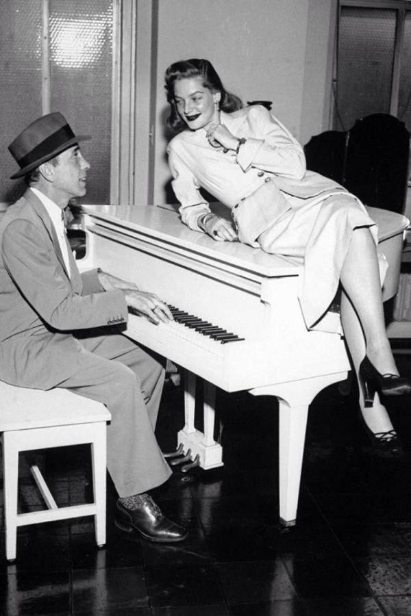 Lauren Bacall i Humphrey Bogart na zdjęciu z Twittera aktorki