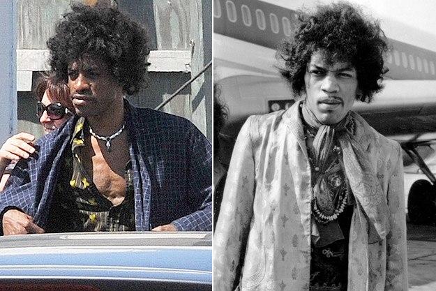 Andre 3000 jako Hendrix i Jimi Hendrix we własnej osobie