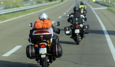 Motocykle na autostradzie