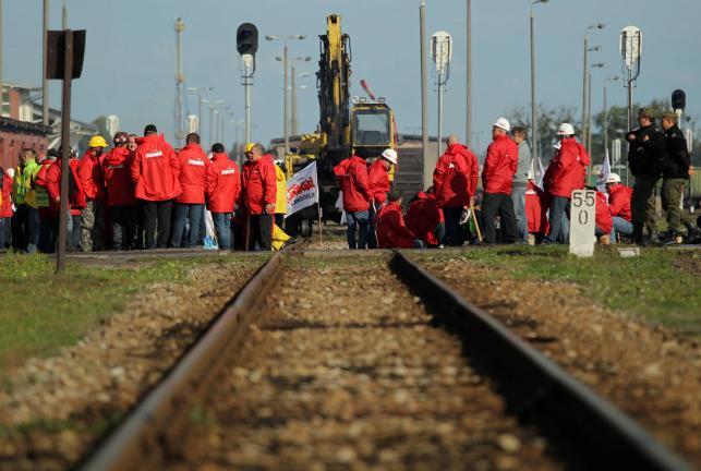 Górniczy protest w Braniewie