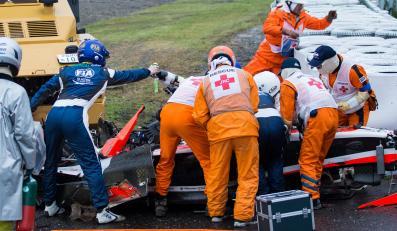 Tragiczny wypadek na torze Formuły 1. Jules Bianchi roztrzaskał się o dźwig