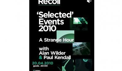 Plakat promujący występ Recoil