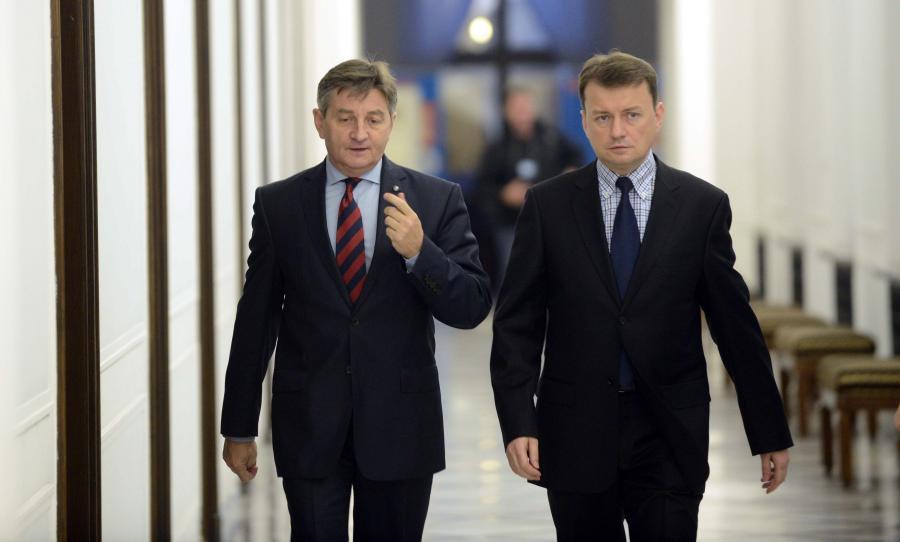 Mariusz Błaszczak i Marek Kuchciński