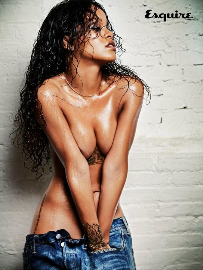 10 najbardziej rozebranych gwiazd muzyki 2014: Rihanna