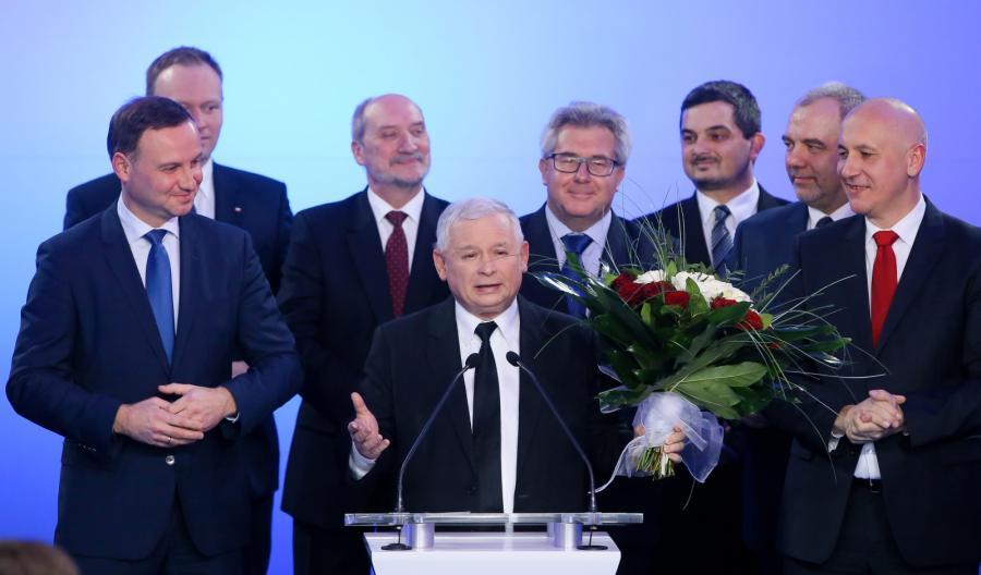 Jarosław Kaczyński w sztabie PiS