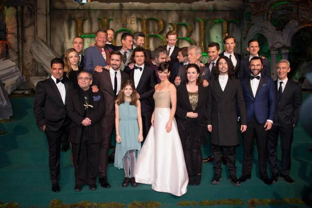 """Gwiazdy filmu """"Hobbit: Bitwa Pięciu Armii"""" na premierze w Londynie"""