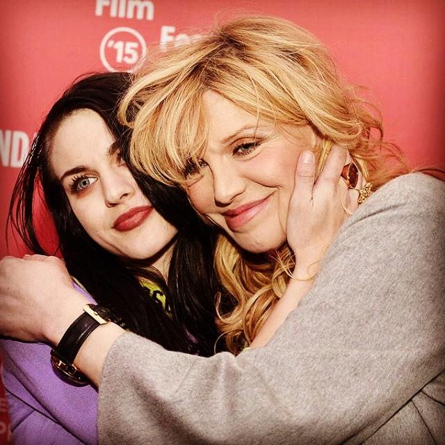 Courtney Love razem z córką na premierze filmu o Kurcie Cobainie