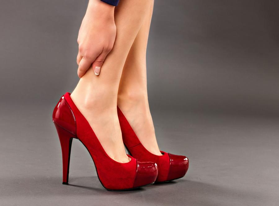 Buty na wysokim obcasie
