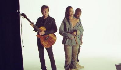 """Rihanna, Kanye West i Paul McCartney w teledysku do """"FourFiveSeconds"""""""