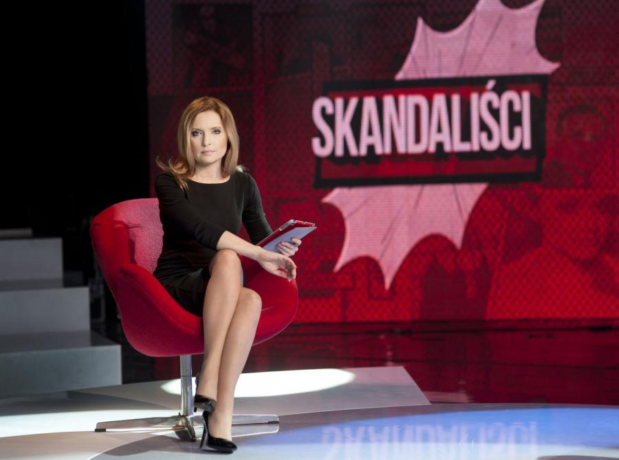 Agnieszka Gozdyra na planie programu \