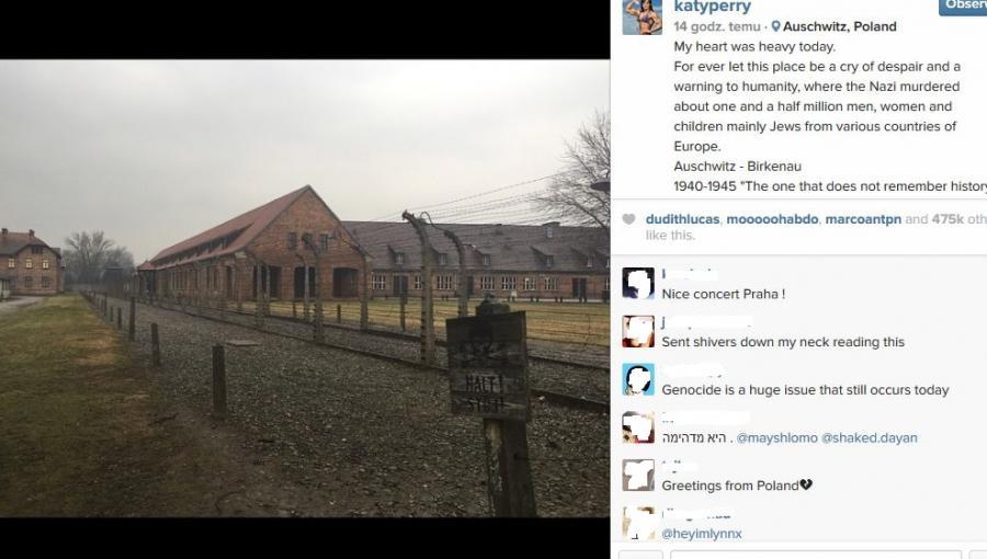 Katy Perry odwiedziła Auschwitz