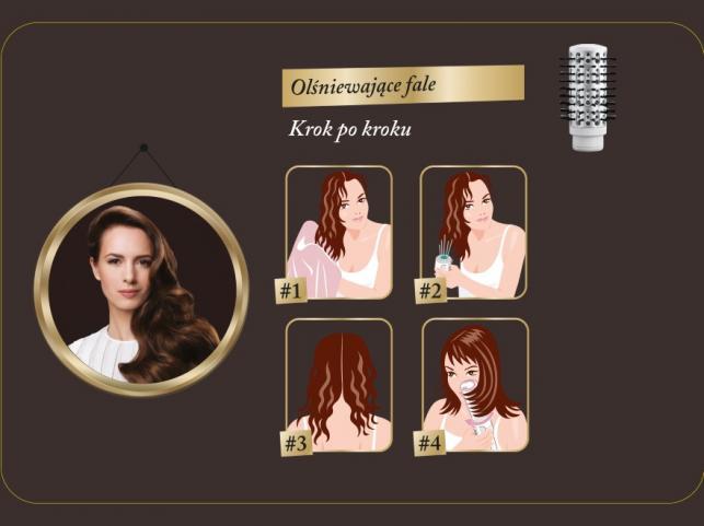 Układanie włosów szczotką obrotową