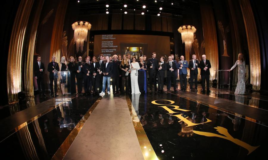 Zdjęcie grupowe laureatów Polskich Nagród Filmowych Orły 2015
