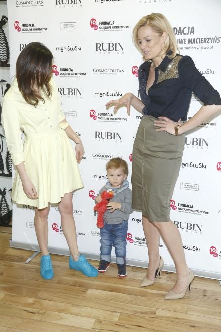 Odeta Moro i Monika Pyrek z synem