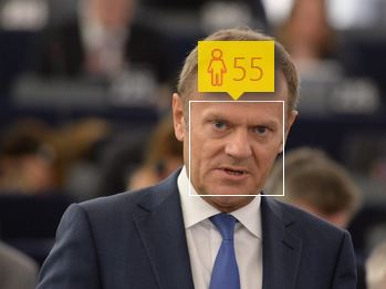 Donald Tusk i jego wiek według How-Old.net